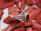 FIORE ANELLO IN ARGENTO 925 con nero pietre onice Anello in argento anello donna