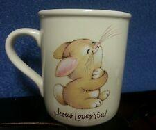 Hallmark Mug Mates Bunny Jesus Loves Me  ceramic Cup