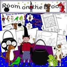 Room on the Broom - teaching resource CD- games,display, Halloween