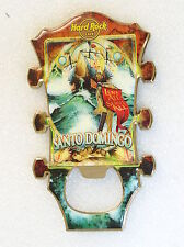 SANTO DOMINGO,Hard Rock Cafe, MAGNET Bottle Opener Guitar Hear Series