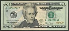$20 2009==NUMBER 2028==FOUR DIGIT SERIAL==JH 00002028 B==GEM CU