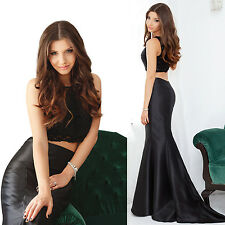 Women's Two-pieces Long Mermaid Evening Party Dresses Formal Prom Gowns 08434
