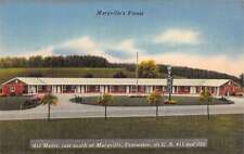 Maryville Tennessee Motel Street View Linen Antique Postcard K34279