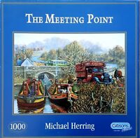 Gibsons The Meeting Point by Michael Herrring 1000 piece nostalgic jigsaw puzzle