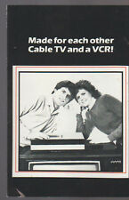 Made for Each Other Cable TV and a VCR Cablevision Ad Brochure 1980s