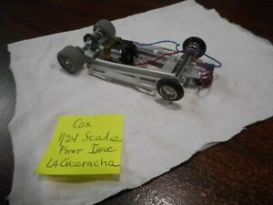 Used Vintage Cox First Issue Iso-Fulcrum Chassis for La Cucaracha Slot Car Body