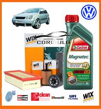 KIT TAGLIANDO OLIO CASTROL 5W40 + FILTRI VW POLO (9N_) 1.4 TDI 59KW