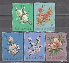 KOREA 1975 used SC#1363/67 set, Blossoms.