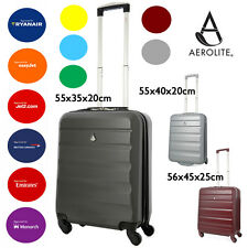 Aerolite Lightweight ABS Hard Shell 4 Wheel Spinner Hand Cabin Luggage Suitcase