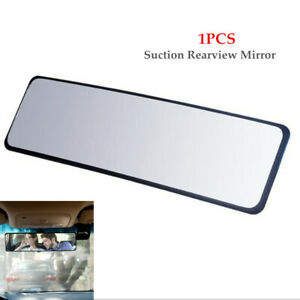 Car Auto Wide Flat Interior Rear View Mirror Rearview Plastic + Glass Durable
