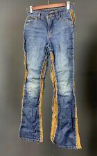 Ladies Dolce & Gabbana Blue Denim / Leather Trousers Jeans Size 26