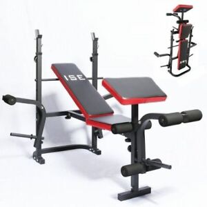 Banc De Musculation Pliable Complet Multifonction Fitness Cardio Abdos Neuf