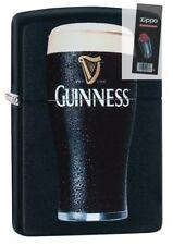 Zippo 29649 Guinness Beer Black Matte Finish Lighter + FLINT PACK
