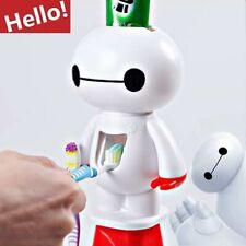 Toothbrush Holder Cartoon Baymax Automatic Toothpaste Dispenser Bathroom Kids