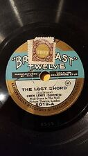 OPERA 78 rpm RECORD Broadcast Twelve GWEN LEWIS Organ THE LOST CHORD Sullivan