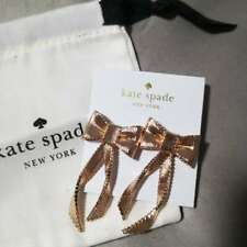 NWT KATE SPADE All Wrapped Up Statement Earrings Rose Gold w/ dust bag O0RU2710