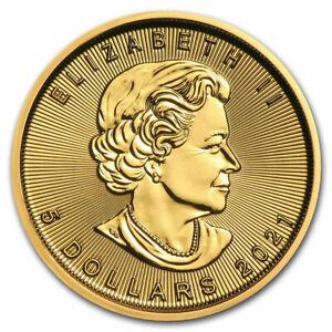 2021 Canada 1/10 Oz Gold Mapleleaf 5$