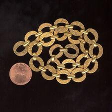 "BTF 1 Foot Vintage Golden Brass Floral Scrolled NOS Chain 1/2""Link CH245"