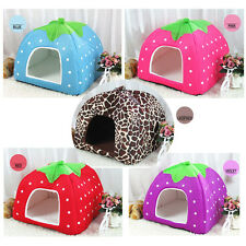 Pet Dog Cat Bed Warm Cushion House Strawberry Kennel Doggy Soft Bed New 5 Styles