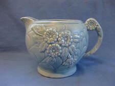 """Art Deco Arthur Wood Jug / Vase ~ """"Victory"""" ~ Satin Blue ~ Moulded Decoration"""
