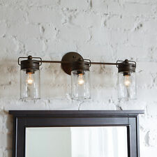 Vanity 3 Light Fixture Bar Aged Bronze Transitional Contemporary Industrial Wall