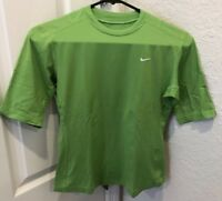 Womens Nike Dri-Fit Lime Green Athletic Shirt Top Size S Small (4-6)