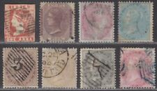 India 1854-64 Queen Victoria Selection to 1r Used mixed condition