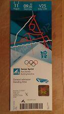 LONDON 2012 OLYMPIC TICKET CANOE SPRINT ED MCKEEVER GOLD 11 AUG £95 *MINT*
