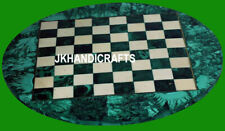 "24"" Marble Chess Coffee Table Top Malachite Handmade Home Decor for Gift"