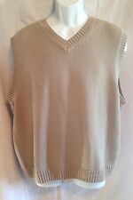 IVY CREW Classic Sweater Vest Golf Mans Size L 100% Cotton V-Neck EUC
