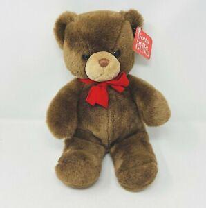 "Gund Brown Tender Teddy 2125 Bear Plush 16"" Vintage 1983 With Tags"