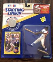 N.Y Starting Lineup- SLU Loose //Card /& Coin 1991  DARRYL STRAWBERRY METS