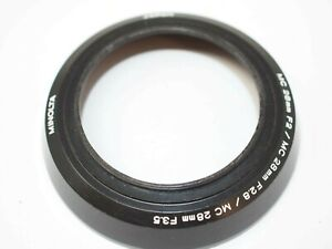 Minolta Screw-In Lens Hood for 28mm f2, 28mm f2.8, 28mm f3.5 MC Lenses