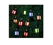 SOLAR POWERED 10 LED NOVELTY PARTY LANTERN FAIRY STRING GARDEN LANTERN LIGHTS