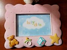 Pink dots baby picture frame