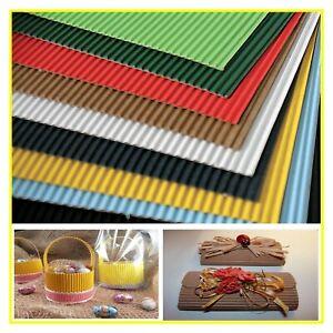 cartoncino cartoncini colorato ondulato cm 50 x 70 gr.235 per decorazioni lavori