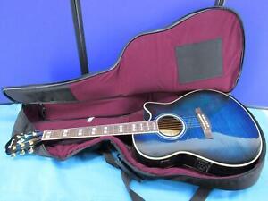 Ibanez AEF30-MS-OP-04 Blue Burst Acoustic Electric Guitar