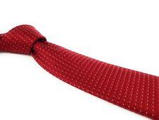 DONALD J TRUMP Signature Collection Tie Red Micro Check Power Necktie