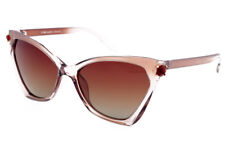 Eternal Polarised Women Ladies Cat Eye Style Sunglasses for Driving Cocoa Pearly