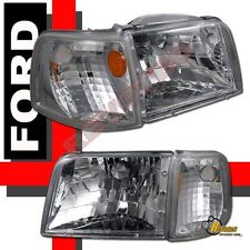 93-97 Ford Ranger Headlights & Corner Signal Lights 4pcs Set