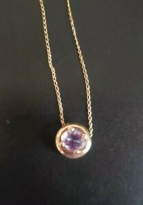 14k Gold Iolite Necklace