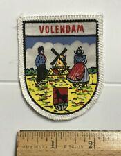 Volendam Holland The Netherlands Dutch Windmill Souvenir Patch Badge