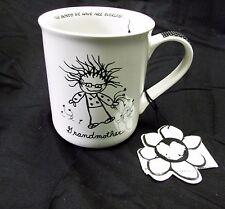 Children Inner Light Enesco Grandmother White Black Gingham Mug Cup Marci