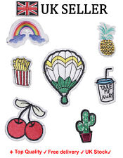 Set of 7Pcs Embroidered Sew Iron on Patch Badge embroidered craft motif Applique