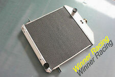 Fit Ford Deluxe Chevy 350 V8 Swap W 1939-1941 1940 aluminum alloy radiator 56mm