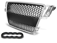 PARE CHOC, CALANDRE, GRILLE AUDI A5 07-06.11 SILVER RS-STYLE