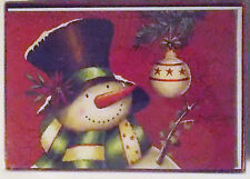 Christmas Cards Box of 20 with Envelopes Snowman and Bulb Nib