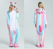 Erwachsen Kinder Einhorn Kigurumi Tier Cosplay Kostüm Onesie8 Pyjama Unisex Heiß