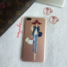 FASHIONISTA IPHONE 7/8 PLUS SOFT SILICONE CLEAR CASE- SHOPAHOLIC CELINE