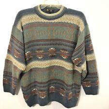BROOKS BROTHERS Wool Alpaca Mohair  XL  Crewneck Sweater Mens Indian Cowboy